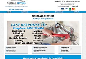 Firstcall Plumbers by Chelmer Web Design